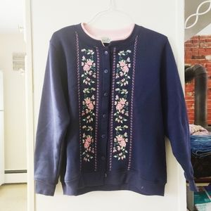 🦋 VINTAGE 90s Grandma Cottagecore Floral Sweater